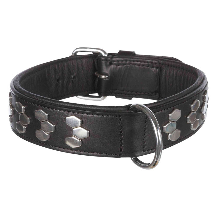 Collar Active Remaches, XL, 65-75 cm/40 mm, Negro