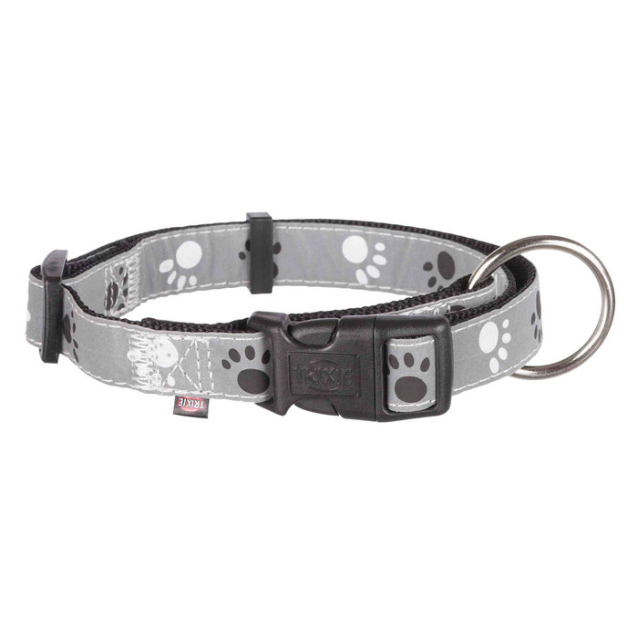 Collar Silver Reflect, L-XL, 40-65 cm/25 mm, Negro-Gris